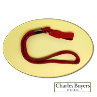Red elasticated loop Wrist Cord from Charles Buyers (#2020) 