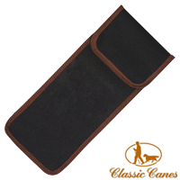 Black canvas Walking Stick Pouch from Classic Canes (#2023) 