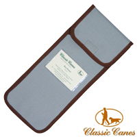 Blue canvas Walking Stick Pouch from Classic Canes (#2023) 