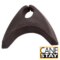 Easy to use cane holder in charcoal that offers wall and table top support from Canestay USA (#2028)