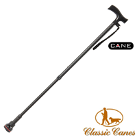 Extending orthopaedic walking stick with soft ABS escort handle, swivel joint and wrist loop from Classic Canes (#2138) Artcode: 1800 Barcode: 884285011001